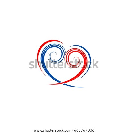 love hearts icon sign vector logo royalty free element
