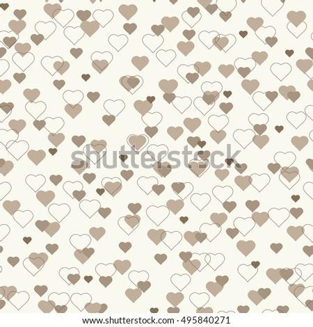 love hearts seamless pattern
