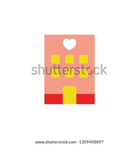 Love house icon. Element of Valentine day icon for mobile concept and web apps. Detailed Love house icon can be used for web and mobile