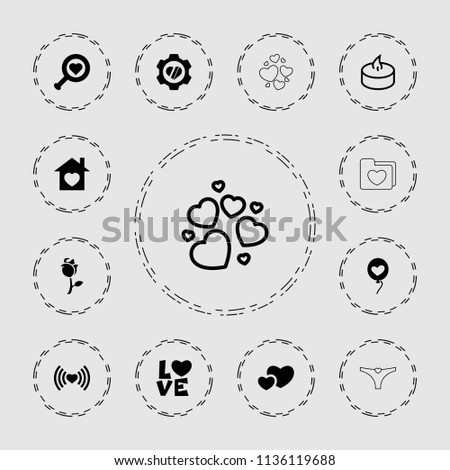 love icon collection of 13
