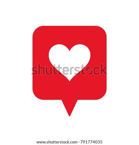 love icon  heart in speech