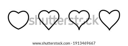 Love icon vector. Heart icon vector. Like icon vector.