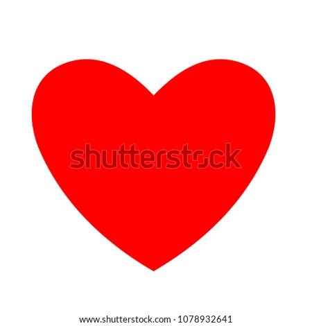 love icon - vector heart illustration, valentine romantic concept