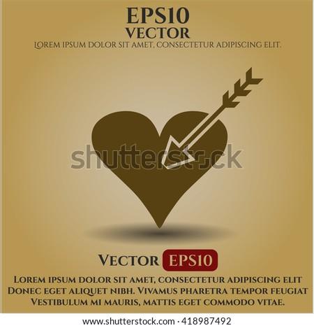love icon vector symbol flat eps jpg app web concept website