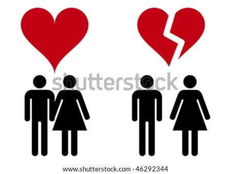 Love icons. - stock vector