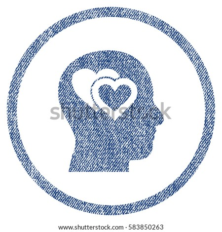 love in mind textured icon for