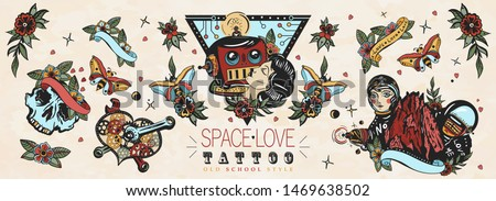 love in outer space retro