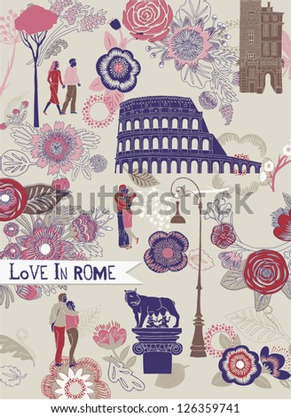 Love in Rome Greeting Card