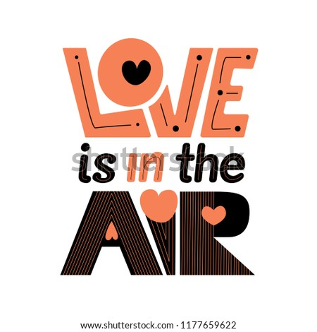Love in the air lettering