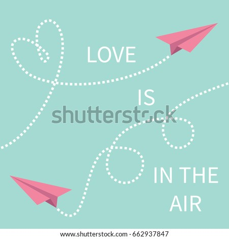 love is in the air lettering