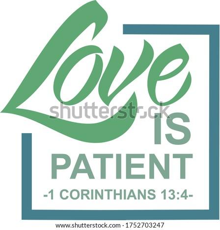 love is patient 1 corinthians