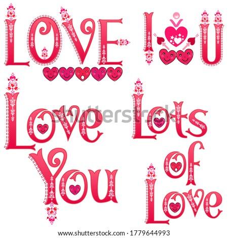 love labels i love you sticker