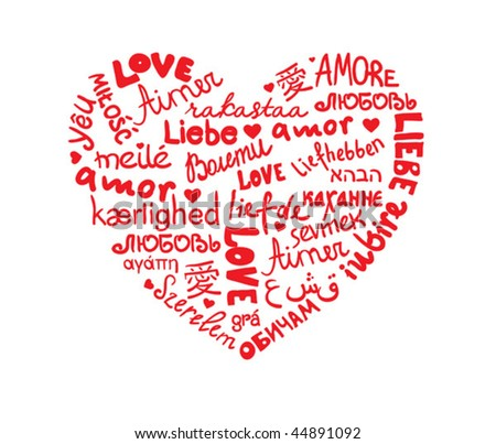 love languages heart stock vector 44891092 shutterstock love languages 450x403