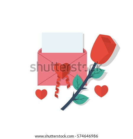 love letter in envelope with