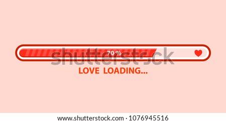 love loading progress  heart