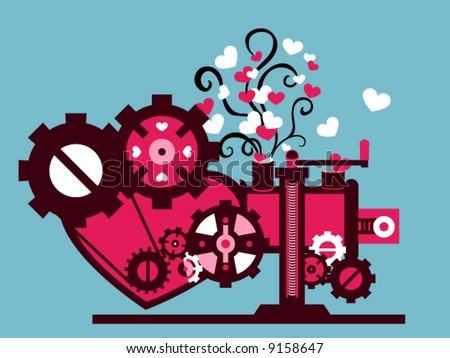 love machine   vector