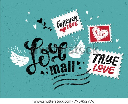 love mail  hand drawn lettering