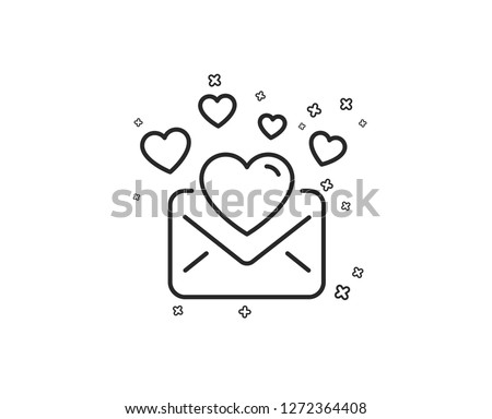 love mail line icon valentines