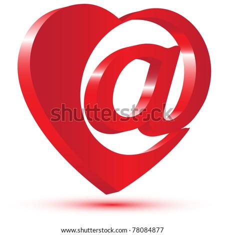 love mail symbolvector