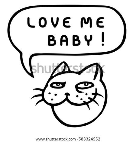 love me baby   cute tom cat
