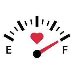 love meter gauge scale valentine day vector illustration