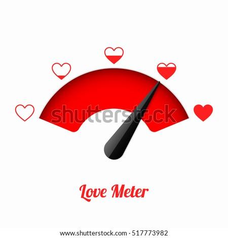 Love meter. Valentine's day card design element.