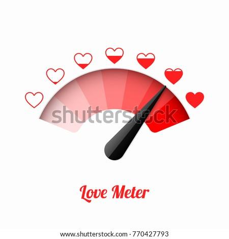Love meter, Valentine's Day card design element