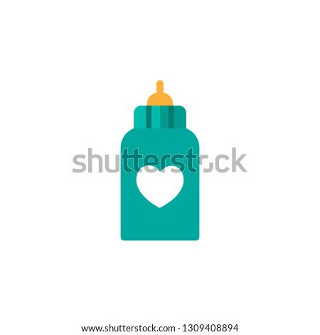 Love milk bottle icon. Element of Child icon for mobile concept and web apps. Detailed Love milk bottle icon can be used for web and mobile