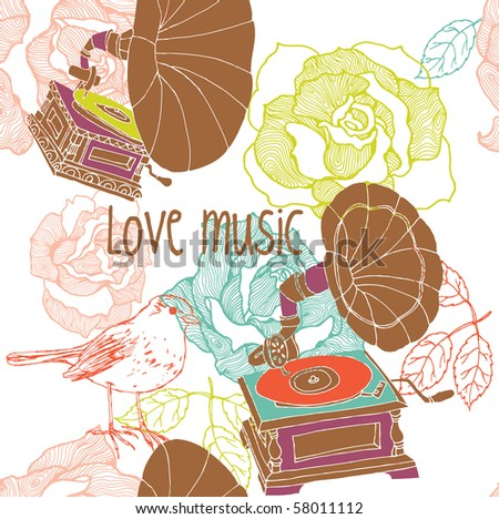 i love music backgrounds. stock vector : love music