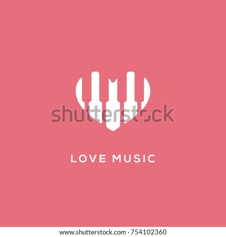 love music logo template design
