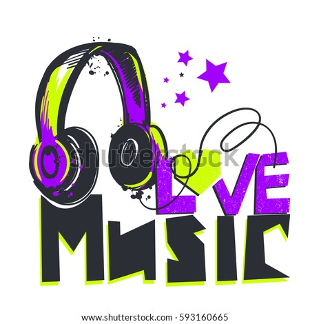 love music t shirt design with