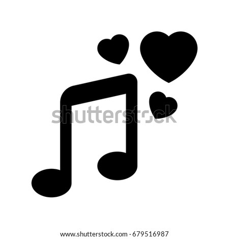 love musical note icon
