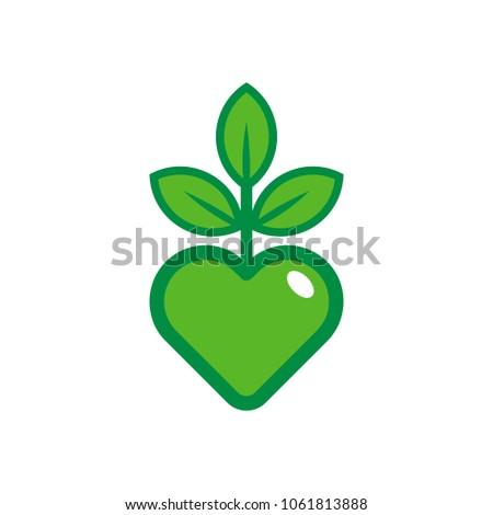 love nature logo icon design