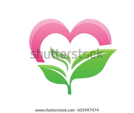 love   nature logo symbol