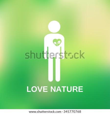love nature   stick figure man