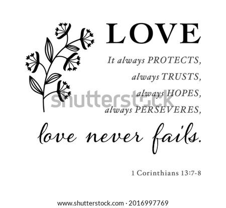 love never fails 1 corinthians
