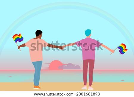 love of two interracial men