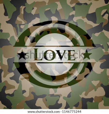 love on camo pattern