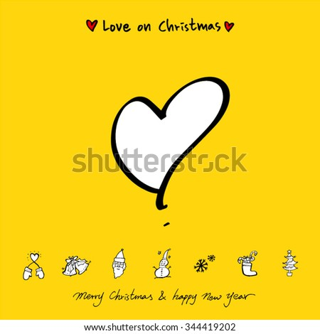love on christmas   heart