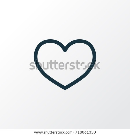 Love Outline Heart Icon Symbol. Premium Quality Isolated Heat Icon Element In Trendy Style.