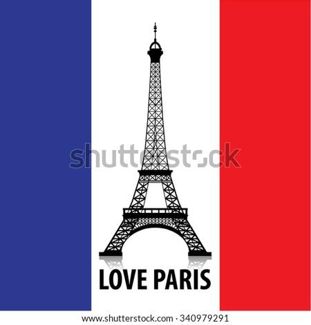 love paris and eiffel tower