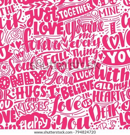 love pattern pink seamless