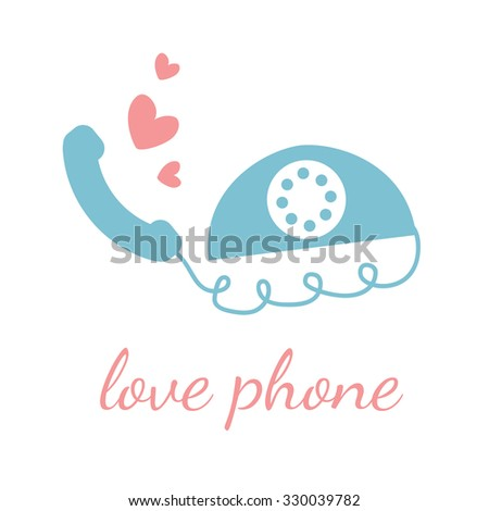 love phone vector design