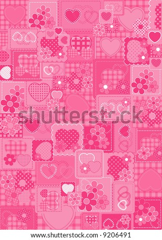 wallpaper love pink. stock vector : Love pink