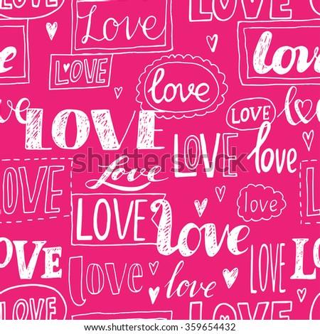 love pink romantic seamless