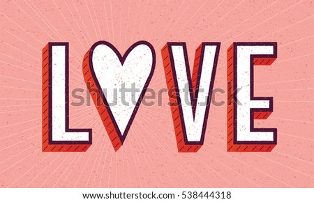love poster with heart and