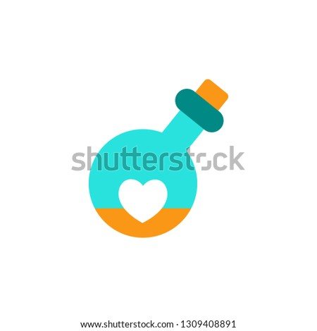 Love potion icon. Element of Valentine day icon for mobile concept and web apps. Detailed love potion icon can be used for web and mobile