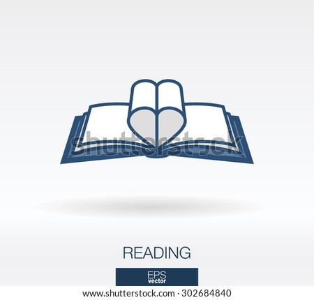 love readinng concept icon