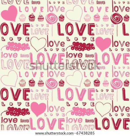 Love seamless background