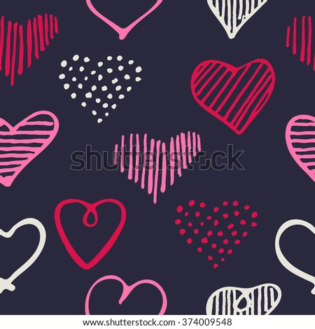 love seamless pattern romantic